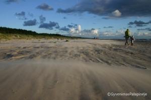Paplūdimys prie kempingo